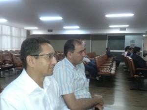 Fábio Queiroz e Fabrício Duarte acompanharam sessão da Corte Especial
