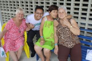 Irmãs Nápole: Neusa, Elezi e Floresta recebem assistência do presidente Fábio Queiroz