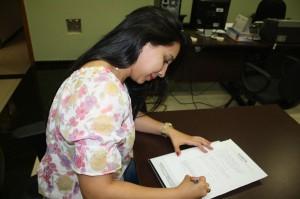 Nova filiada ao SINDJUSTIÇA, Paula Chaves Cruz ingressou no TJGO em março último