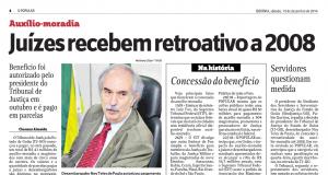 Reportagem publicada hoje no jornal O Popular