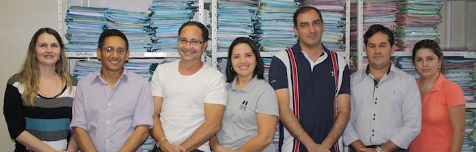 Servidores reunidos na comarca de Jataí