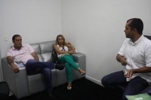 Vice-presidente do SINDJUSTIÇA, Fabrício Duarte acompanhou reunião comdelegado sindical em Rio Verde