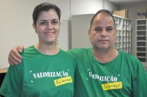 Josielle Vale e Sérgio Gundim aderem à mobilização por valorização vencimental