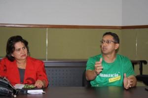Presidente Fábio Queiroz e advogada Rúbia Bites prestam assistência aos servidores de Anicuns