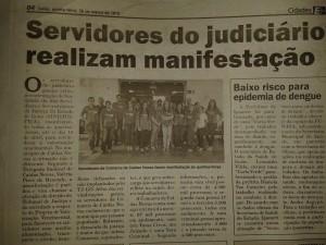 Manifesto dos servidores de Caldas Novas é destaque no jornal E+ Notícias