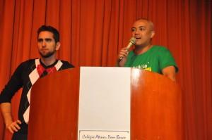 Advogado Arthur Calixto e vice-presidente para Assuntos Jurídicos, Lionidas Gimenes Filho