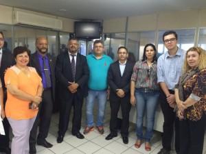 Presidente Fábio Queiroz representa os servidores do Poder Judiciário na reunião com a secretária da Fazenda, Ana Carla Abrão Costa