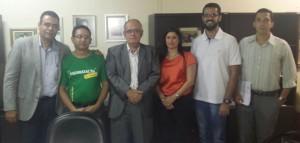 Presidente Fábio Queiroz participou da reunião de hoje