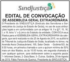 Edital de convocação para a assembleia foi publicado hoje, no jornal O Popular