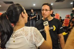 Presidente Fábio Queiroz concedeu entrevista a diversos veículos de comunicação