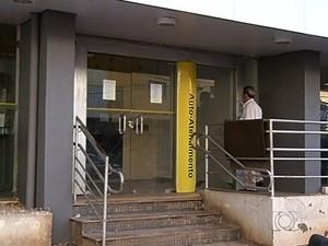 Bancários entram em greve nesta terça-feira (Foto: Reprodução/TV Anhanguera)