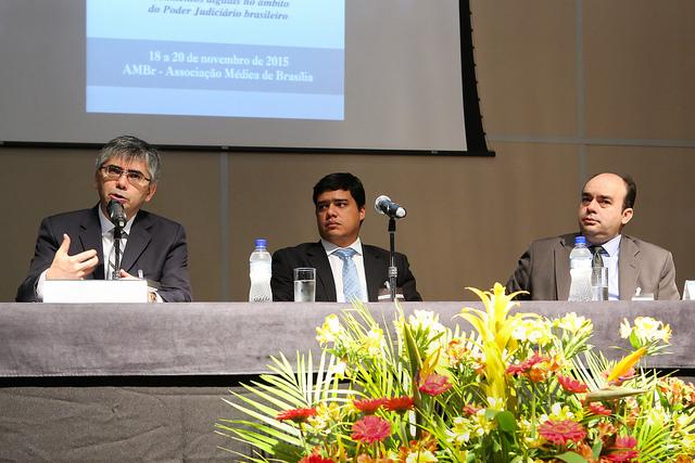 Juiz auxiliar da Presidência do CNJ, Bráulio Gusmão, participa do IV Congresso Brasileiro de Arquivos do Poder Judiciário. Foto: Gilmar Félix/Agência CNJ