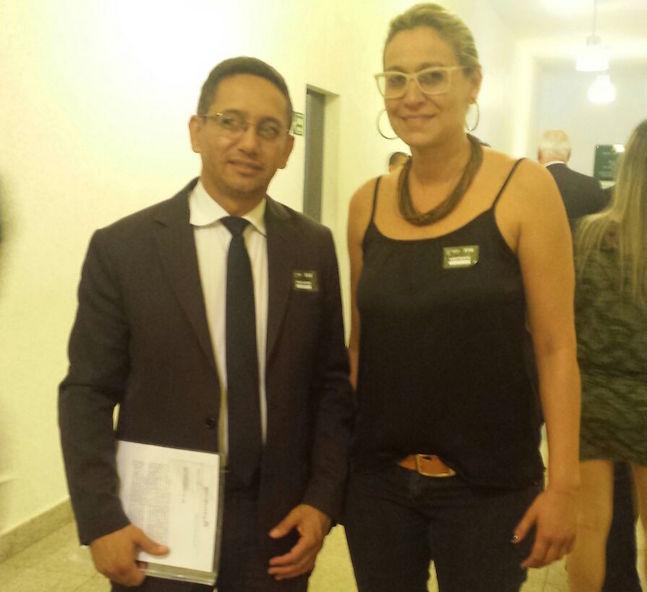 Fábio Queiroz e Mara Cristina acompanharam hoje a movimentação da data-base na Alego