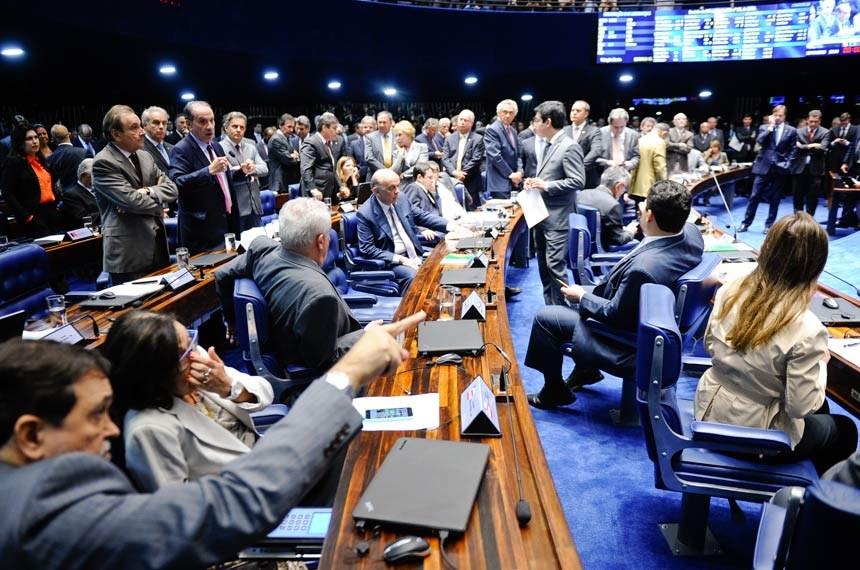 Sessão de votação do Senado Federal. Foto: Marcos Oliveira/Agência Senado