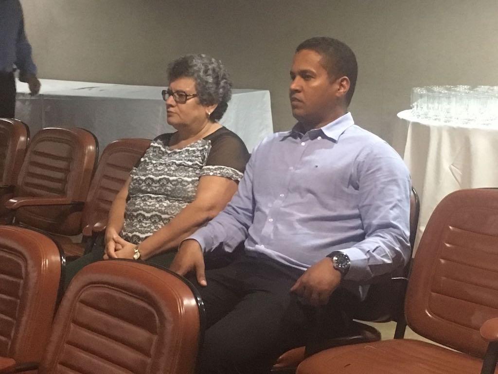 No auditório do TJGO, integrantes da diretoria do SINDJUSTIÇA deram as boas-vindas aos novos servidores do Judiciário