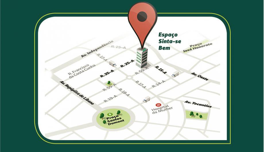 Localização do novo espaço que será inaugurado pela Unimed Goiânia