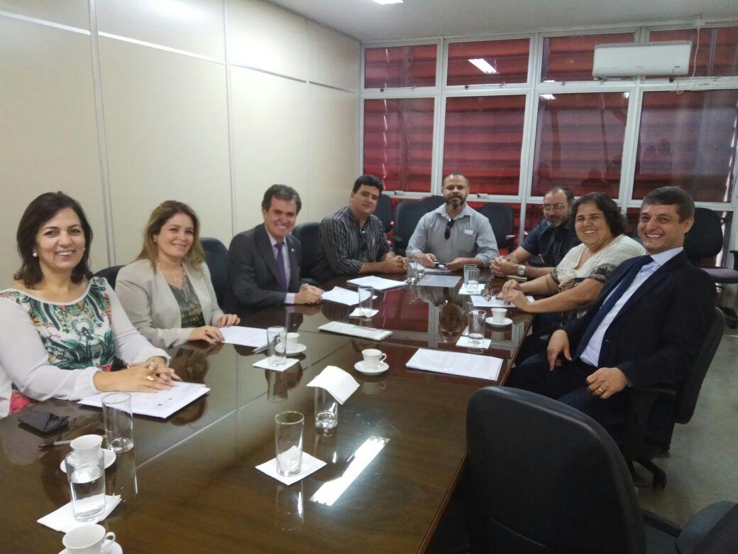 Diretoria do SINDJUSTIÇA em reunião com o Conselho de Política Salarial do TJGO