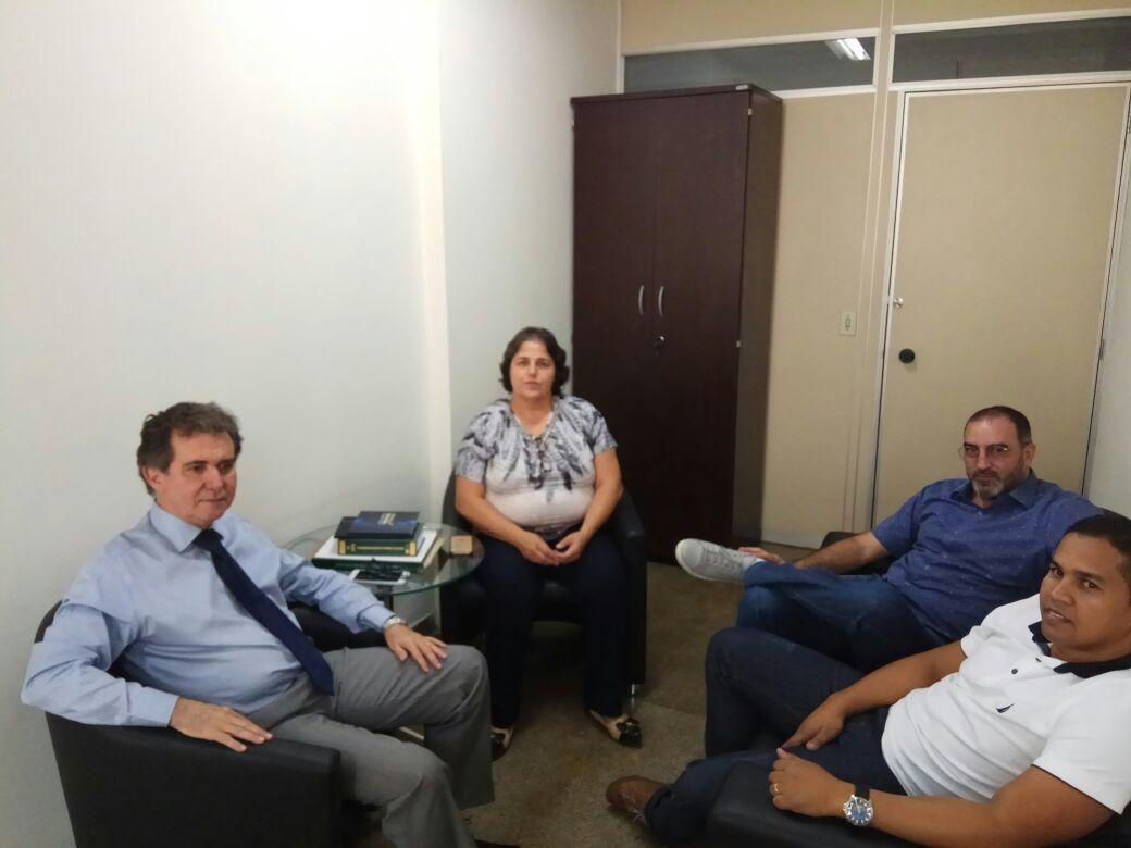 Presidente Rosângela, desembargador Itamar de Lima e os vice-presidentes Fabrício e Eduardo